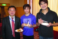 Chinese minister counsellor Tang Benynan and cast members