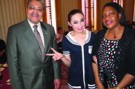 Haitian Ambassador Jean Claude Bordes, Jamaican Ambassador Claudia Barnes, and a cast member of the show