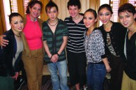 Yasmine Tsamados of Greece, her son Andreas, and their new Chinese friends