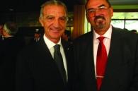 Italian Ambassafor Vincenzo Petrone and Czech Ambassador Jaromir Novotny