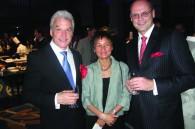 German Ambassador Volker Stanzel, his wife Mei Sang, and Lufthansa's Uwe Mueller