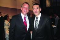 United Airlines VP Pacific James Mueller and Grand Hyatt Tokyo GM Cristophe Lorvo