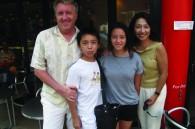 Iain, Alistair, Sarah and Yoko Muir of Yoyogi International School