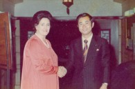 Regina with Hisa Oki, an up-and-coming politician under prime minister Kakuei Tanaka