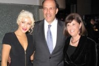Christina Aguilera with US Amb. John V. Roos and his wife Suzy