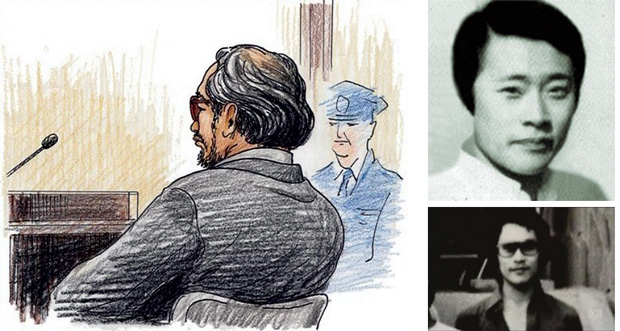 Photographs and court sketches of Lucie Blackman's killer Joji Obara