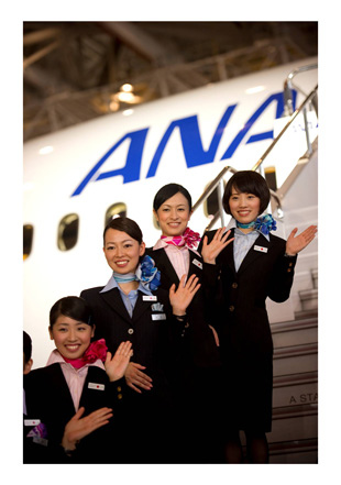 ANA flight attendants