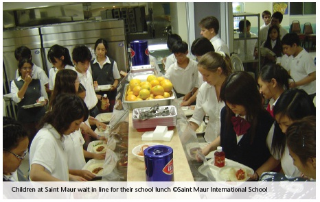 Children at Saint Maur International School