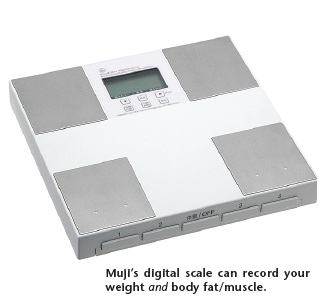 Muji's digital scale