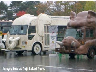Jungle bus at Fuji Safari Park
