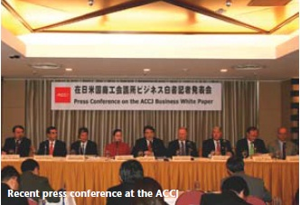 Press conference at ACCJ