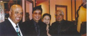 Ishwar Chugani, Yog Kapoor, president and CEO of Samrat, Yoshiko Sarani, Ricky Sarani