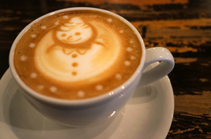 A toasty snowman at Seven Colors, Shimokitazawa