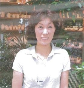 Rumiko Honma outside Fermier store in Atago