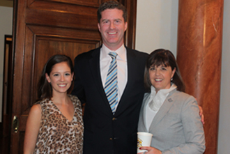 Lauren Roos, Timothy Slavin of MLB Japan and Susan Roos