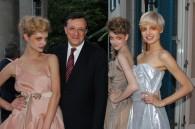 David Warren, the British ambassador, and three Vivienne Westwood models