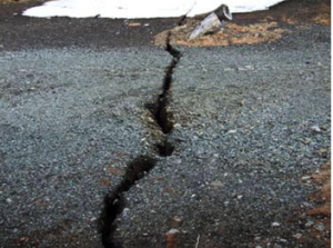The crack (Image: KYODO)