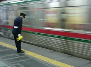 Bow train manager, Japan