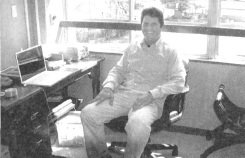 Patrick Newell in his office