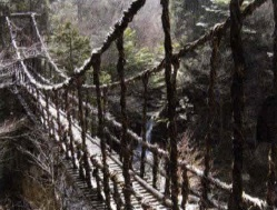 Rope hanging bridge