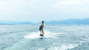 Waterskiing on Lake Biwa