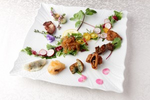 Higankaku appetiser plate