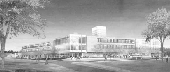 Artist's rendering of new facilities at York University in Toront