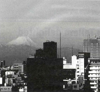 This view of Mt. Fuji disappeared once Mori's Roppongi Hills grew to some 40 floors