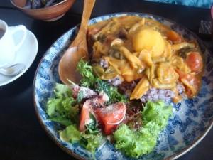Organic dish in Noumin Cafe