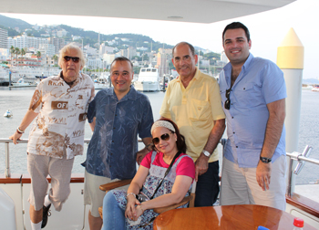 Bill with Bill Ireton, his wife Charo, Oded Lifschitz and his son Adam