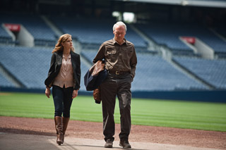 Amy Adams and Clint Eastwood in 'Trouble With the Curve'
