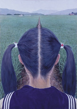 Aida Makoto AZEMICHI (a path between rice fields) 1991