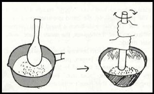 Grind in suribachi
