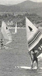 Wind surfing on Lake Hamana