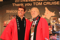 Tom Cruise with Bill Hersey