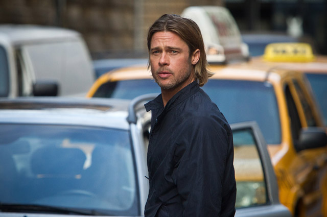 Brad Pitt, who stars in World War Z, was in Tokyo at the end of July to promote the film