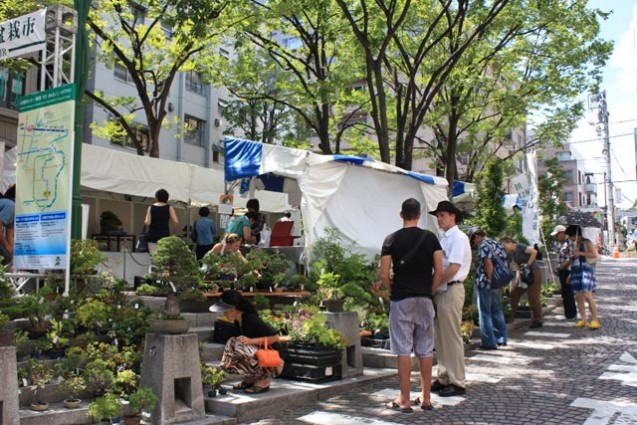 Bonsai and Greenery Fair in Azabu Juban