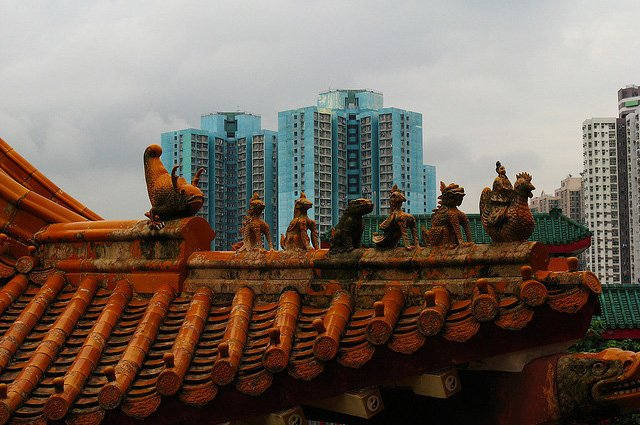 Mystery rooftop temple