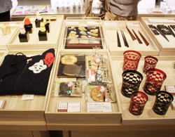 Some of the goods on display at Sumida City Point