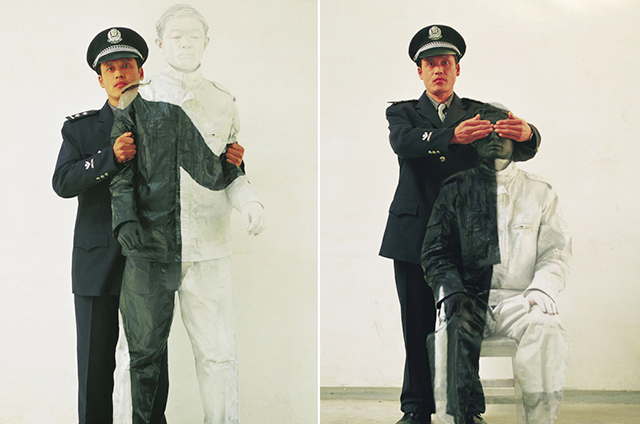 Policeman in Korea, Liu Bolin