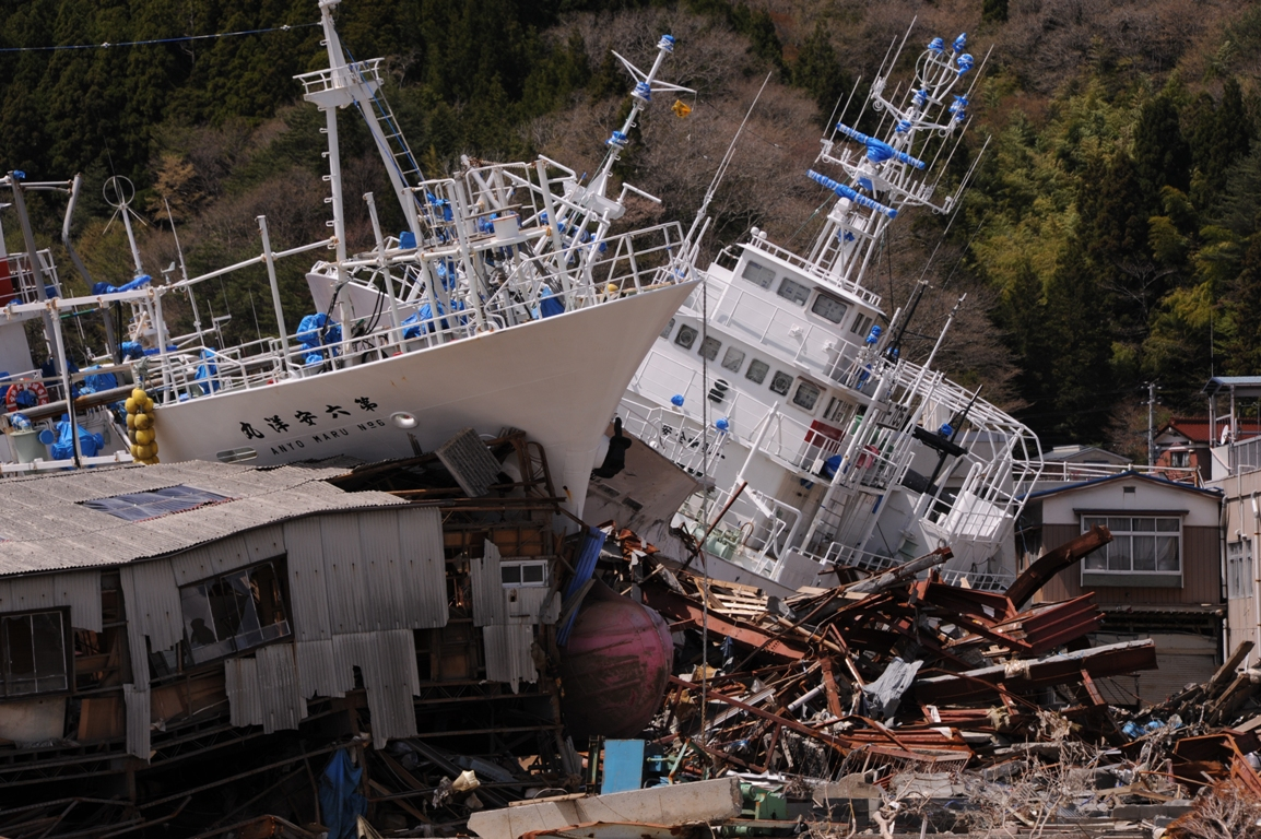 Kesennuma just following the disaster