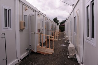 In Ishinomaki: temporary housing constructed for the disabled