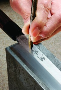 Custom engraving is one of Kamata Hakensha's specialties