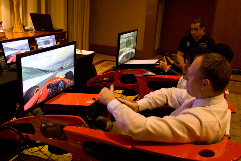 Simulated racing for a cause