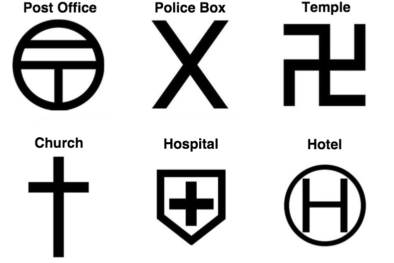 revamped tourist friendly map symbols have arrived news. Black Bedroom Furniture Sets. Home Design Ideas