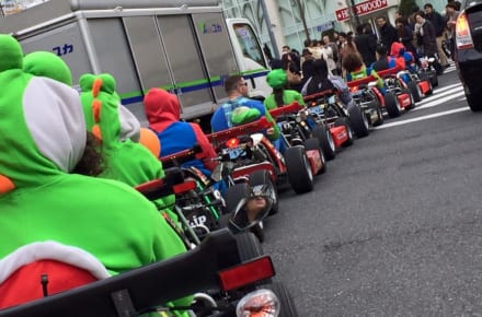 Race Through the Streets of Tokyo in Classic Mario Kart Style
