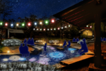 Escape the Cold with a Warm Footbath Filled with Reflecting Fireworks