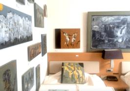 Art by Chiaki Horikoshi, Ryosuke Yasumoto, and Masakatsu Tagami, Gallery Kazuki, room 2619