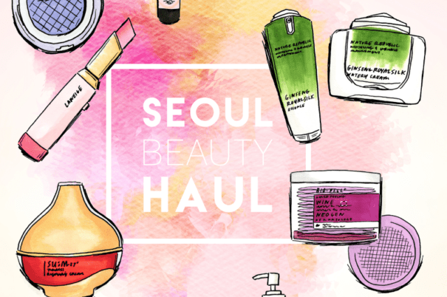 seoul beauty haul