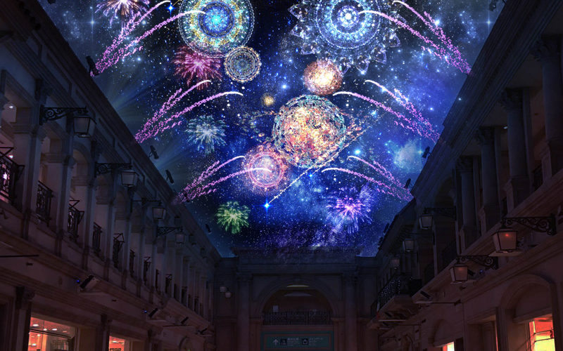 Check Out A Projection Mapping Fireworks Display In Odaiba